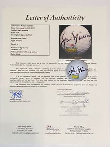 Jack Nicklaus Autographed/Signed Golf Hall Of Fame Ball Certified JSA Full