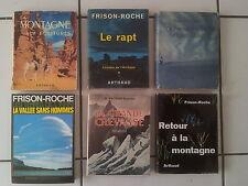 lot 6 livres Roger FRISON ROCHE en bel état, dont 4 éditions originales !