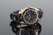 AK Quarz Black Dial Date Leather Band Men's Army Sport Heavy Duty Military Watch
