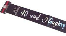 40th happy birthday party noir argent holographique 40 et vilain strass écharpe