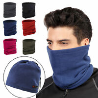 Winter Motorrad Tube Neck Bandana Warmer Fleece Thermal Radfahren Ski Snood Hut