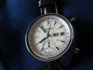 seiko automatic chronograph helmet rare vintage 6139 6309 SPARES Breitling strap