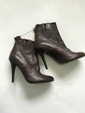 Paul Smith Ladies Stiletto Brown Leather Boots UK 6 EU 39