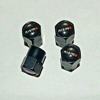 4 Ventilkappen Nissan Nismo, Performance, Schwarz, für Autoreifen, Metall