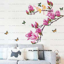 Luxury Magnolia Tree Birds Wall Stickers Mural Art Decal Paper Home Decol