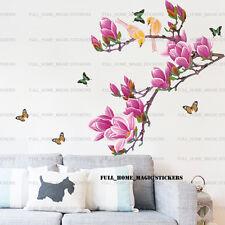 De Lujo Magnolia árbol Pájaros Pegatinas de Pared Mural Arte Calcomanía Papel Home Decol