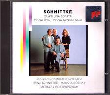 SCHNITTKE Quasi una sonata Piano Trio CD Mstislav ROSTROPOVICH Mark LUBOTSKY