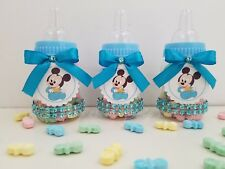 Baby Shower 12 Baby Mickey Mouse Favor Bottles Prizes Games Boy Blue Decorations
