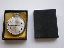 RARE MOLNIJA Open Face RUSSIAN Pocket Watch and Original Box 60s