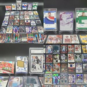 HUGE PATRICK MAHOMES ROOKIE PATCH AUTO 1/1 GRADED PRIZM JERSEY SP RPA CARD LOT
