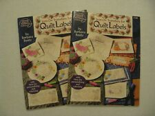 Lot 2 IRON-ON TRANSFERS for QUILT LABELS books Barbara Baatz 4188 Embroidery