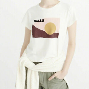 Abercrombie & Fitch - STATEMENT T-Shirt, Off-White - RRP £30.00