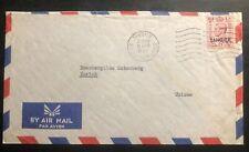 1953 Tangier Morocco British Agencies Airmail Cover to Zurich Switzerland