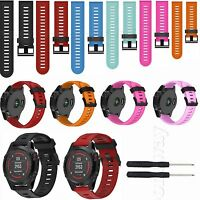 Soft Silicone Replacement Watch Band Bracelet for Garmin Fenix5X GPS Watch+Tools