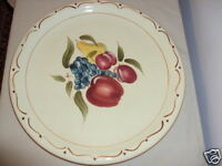 Around the Orchard Home China PlatterLarge 14 In  Round Chop Plate Platter