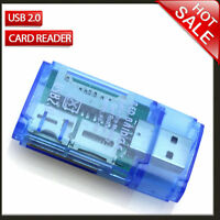 SD Micro SD MMC SDHC DV TF M2 MS Memory Card Reader to USB 2.0 Adapter EV