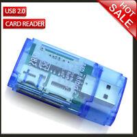 Portable SD Micro SD MMC SDHC DV TF MS Memory Card Reader to USB 2.0 Adapter