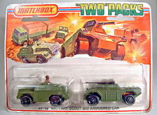 Matchbox Superfast tp13 military Scout & Armoured Car rare mapa