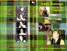 vhs video ANDY RAMAGE LIVE IN THE HIGHLANDS Scotland. 1999 Scottish