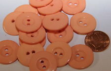 "12 Concave Center Melon Plastic Buttons 13/16"" 21mm # 5394"
