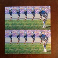 Lem Barney Lions Lot of 10 unsigned Goal Line Art Cards
