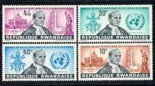 Rwanda 1965 Pope Paul VI/Buildings/UN/Statue 4v  n28173