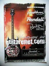PUBLICITE-ADVERTISING :  Guitarenet RANDALL / WASHBURN  10/2007