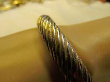 Vintage Signed Castlecliff Gold Tone Bracelet Clamper