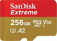 Sandisk MicroSD 256GB Extreme C10 160MB/s Read 90MB/s Write Flash Memory Card ct