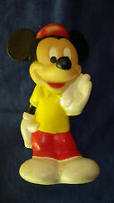 Mickey Mouse Vintage Child Playskool Baby Rubber Toy See Photo's Some Wear 5.5""