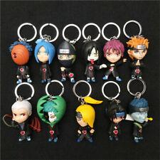 11pcs Naruto Keychains Akatsuki Member Figure Keyring Pendant Anime Toy Gift
