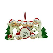 PERSONALIZED New Noel Family of 7 Christmas Tree Ornament 2019 Holiday Name Gift