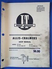 Allis-Chalmers - I&T Shop Service Manual  D-10 D-12 & Series III AC-20 1969