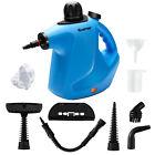 Costway 1050W Multi-purpose Handheld Pressurized Steam Cleaner Blue photo