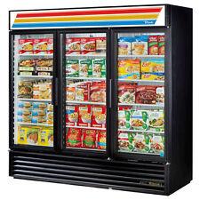 True Gdm-72F Black Glass Door Merchandiser Freezer
