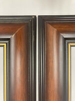 "Pair of Formal Dark Wood and Gold Frames 13.5 x 10.5"" #23"