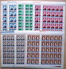 50 x Rumänien Romania 2000 Mi. 5473-77 ** MNH Persönlichkeiten Überdruck  /11