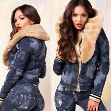 BY ALINA 2-Teiler Jeans Damen Hose Jeansweste Jeansjacke Röhrenjeans 34-38 #B656