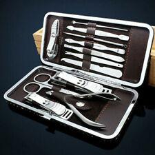 12-teilig Maniküre Set Nagelpflege Pediküre Pflegeset Nagelschere Nagelknipser