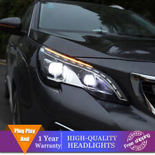 For Peugeot 3008 Headlights Double Lens Beam Projector HID LED DRL 2017