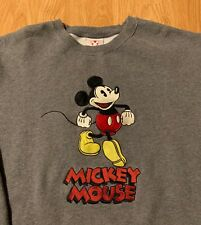 Vintage Disney Store Mickey Mouse Embrodiered Crewneck Sweater Size Men's XL