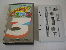 COMMODORE 64 CASSETTE NOW GAMES 3 5 GAMES ON 1