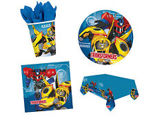 Transformers Movie Birthday Party Tableware Napkins Plates Cups Tablecover