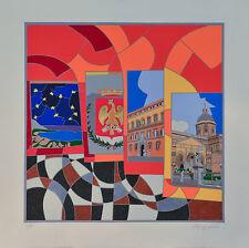 Ugo NESPOLO, Palermo, serigrafia,70x70 cm,firmata,numerata,autentica,IDEA REGALO