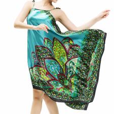 Women Satin Lace Robe Lingerie Nightdress Pajamas Sleepwear Nightgown Dress