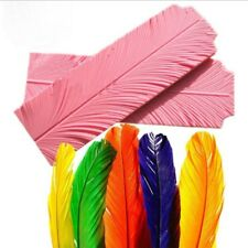 Silicone Leaf Peacock Feather Texture Sugarcraft Fondant Cake Mold Mould Decor