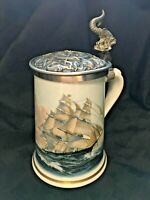 Greyhounds Of The Sea Stein -  Franklin Porcelain by Limoges 1984