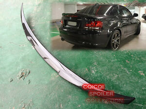 Carbon Fiber BMW 07-12 E82 1-series Coupe M4 Type Trunk Spoiler 118i 120i 135i ◎