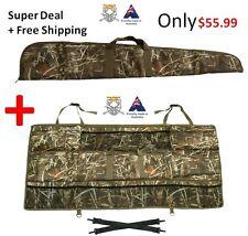 Vehicle SUV Back Seat Storage Pack + 125cm Rifle Gun Case Rifle Bag Carry Holder