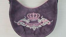 Juicy Couture Purse Purple Pink Girlie Royalty Handbag Shoulder Bag Velour